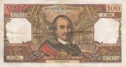 Image #1 of 100 Francs 1967 (7. XII.)