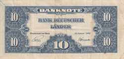 Image #1 of 10 Deutsche Mark 1949 (22. VIII.)