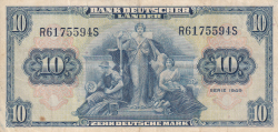 Image #2 of 10 Deutsche Mark 1949 (22. VIII.)