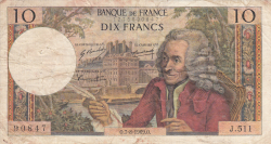 10 Francs 1969 (7. VIII.)