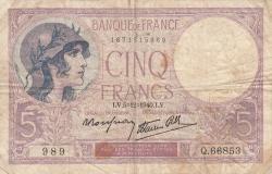 Image #1 of 5 Francs 1940 (5. XII.)