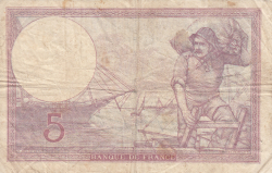 Image #2 of 5 Francs 1940 (5. XII.)