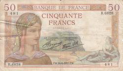 Imaginea #1 a 50 Franci 1937 (26. VIII.)