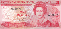 Image #1 of 1 Dollar ND (1988-1989)