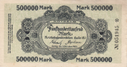 500,000 Mark ND (good until 1. X. 1923)