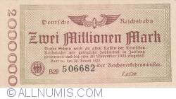 Image #1 of 2 000 000 Mark 1923 (20. VIII.)