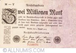 Image #1 of 2 Millionen (2 000 000) Mark 1923 (9. VIII.) - 3