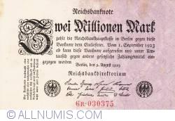 Image #1 of 2 Millionen (2 000 000) Mark 1923 (9. VIII.) - 1