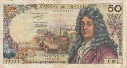 Image #1 of 50 Francs 1972 (10. VIII.)