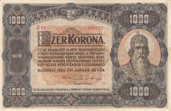 Imaginea #1 a 1000 Coroane 1920 (1. I.)