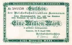 Image #1 of 1 Million (1,000,000) Mark 1923 (2. VIII.)