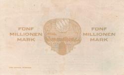 Image #2 of 5 Millionen (5,000,000) Mark 1923 (15. VIII.)