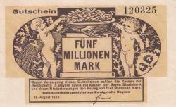 Image #1 of 5 Millionen (5,000,000) Mark 1923 (15. VIII.)