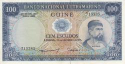 Imaginea #1 a 100 Escudos 1971 (17. XII.) - semnătură ADMINISTRADOR: Pedro de Mascarenhas Gaivão