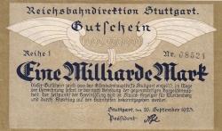 Image #1 of 1 Milliarde (1 000 000 000) Mark 1923 (26. IX.)