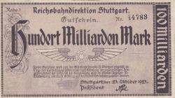 Image #1 of 100 Milliarde (100 000 000 000) Mark 1923 (23. X.)