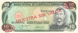 Imaginea #1 a 10 Pesos Oro 1987 - SPECIMEN