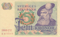 Image #1 of 5 Kronor 1966
