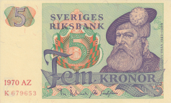 Image #1 of 5 Kronor 1970