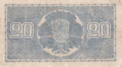 Imaginea #2 a 20 Markkaa 1945 (1948) - semnături Kekkonen / Alsiala