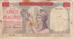 20 Piastres ND (1949)
