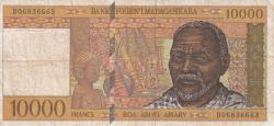 Imaginea #1 a 10 000 Franci = 2000 Ariary ND (1995)