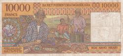 Imaginea #2 a 10 000 Franci = 2000 Ariary ND (1995)