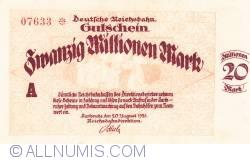 Image #1 of 20 Millionen (20 000 000) Mark 1923 (20. VIII.)
