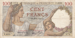Image #1 of 100 Francs 1939 (30. XI.)