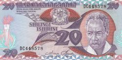 Image #1 of 20 Shilingi ND (1986)