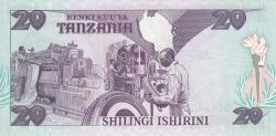 Image #2 of 20 Shilingi ND (1986)