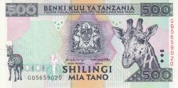 Image #1 of 500 Shilingi ND (1997)