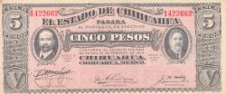 Image #1 of 5 Pesos 1915 (20. VIII.)