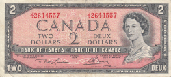 Imaginea #1 a 2 Dolari 1954 (1973-1975) - semnături Lawson-Bouey