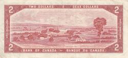 Imaginea #2 a 2 Dolari 1954 (1973-1975) - semnături Lawson-Bouey