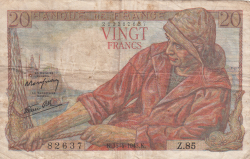 Image #1 of 20 Francs 1943 (15. IV.)