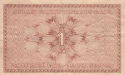 Imaginea #2 a 1 Markka 1916 - semnături Basilier / Thesleff