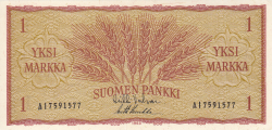 Image #1 of 1 Markka 1963 - signatures Valvanne / Luukka