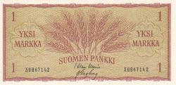 Image #1 of 1 Markka 1963 - signatures Waris / Engberg