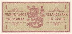 Image #2 of 1 Markka 1963 - signatures Waris / Engberg