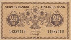 Imaginea #1 a 25 Penniä 1918 - semnături Järnefelt / Thesleff