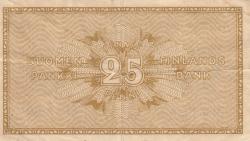 Imaginea #2 a 25 Penniä 1918 - semnături Clas von Collan / Müller