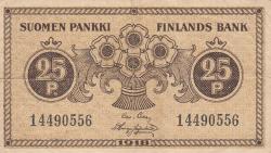 Imaginea #1 a 25 Penniä 1918 - semnături Clas von Collan / Hisinger-Jägerskiöld