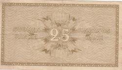 Imaginea #2 a 25 Penniä 1918 - semnături Clas von Collan / Hisinger-Jägerskiöld
