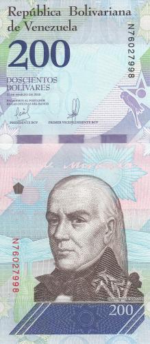 Imaginea #1 a 200 Bolivares 2018 (13. III.)