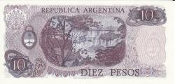 Image #2 of 10 Pesos ND (1976)