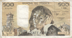 Image #1 of 500 Francs 1990 (5. VII.)