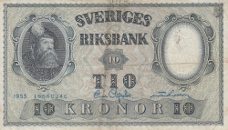Image #1 of 10 Kronor 1953 - 4