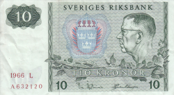 Image #1 of 10 Kronor 1966
