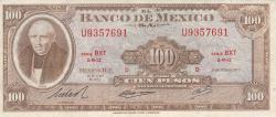 Image #1 of 100 Pesos 1973 (18. VII.) - Serie BXT